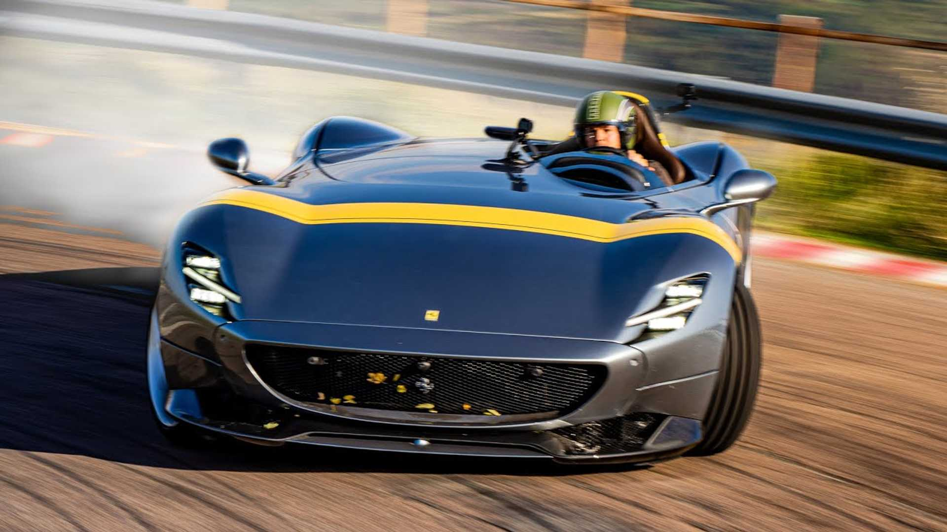 Watch Ferrari Monza SP1 Scream Around Race Track