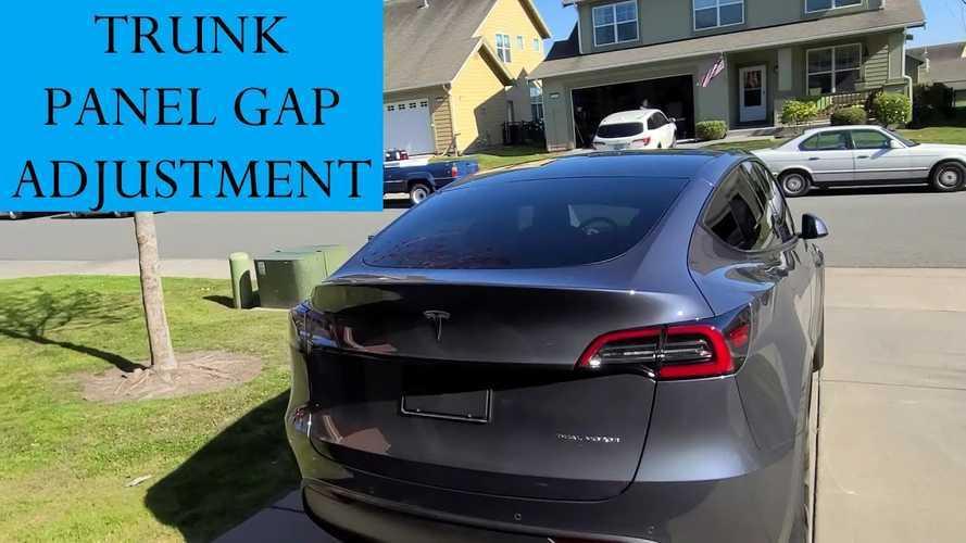 Tesla Model Y Rear Hatch DIY Panel Gap Adjustment How-To