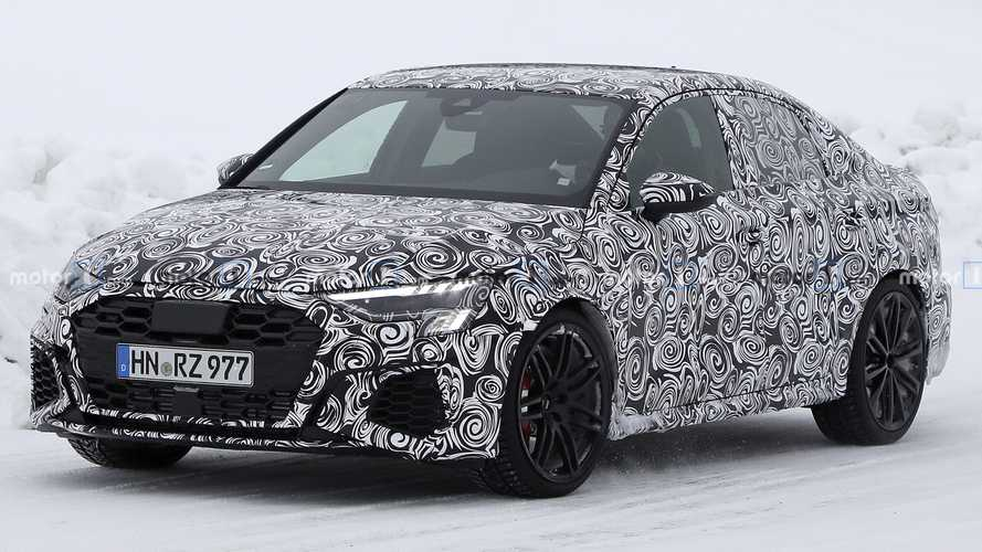 2022 Audi RS3 Saloon and RS3 Sportback spy photos