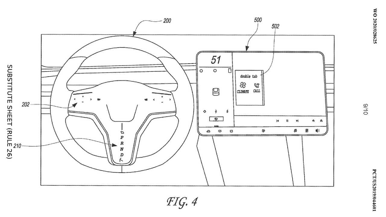 Tesla, il brevetto di un volante con tre schermi touch