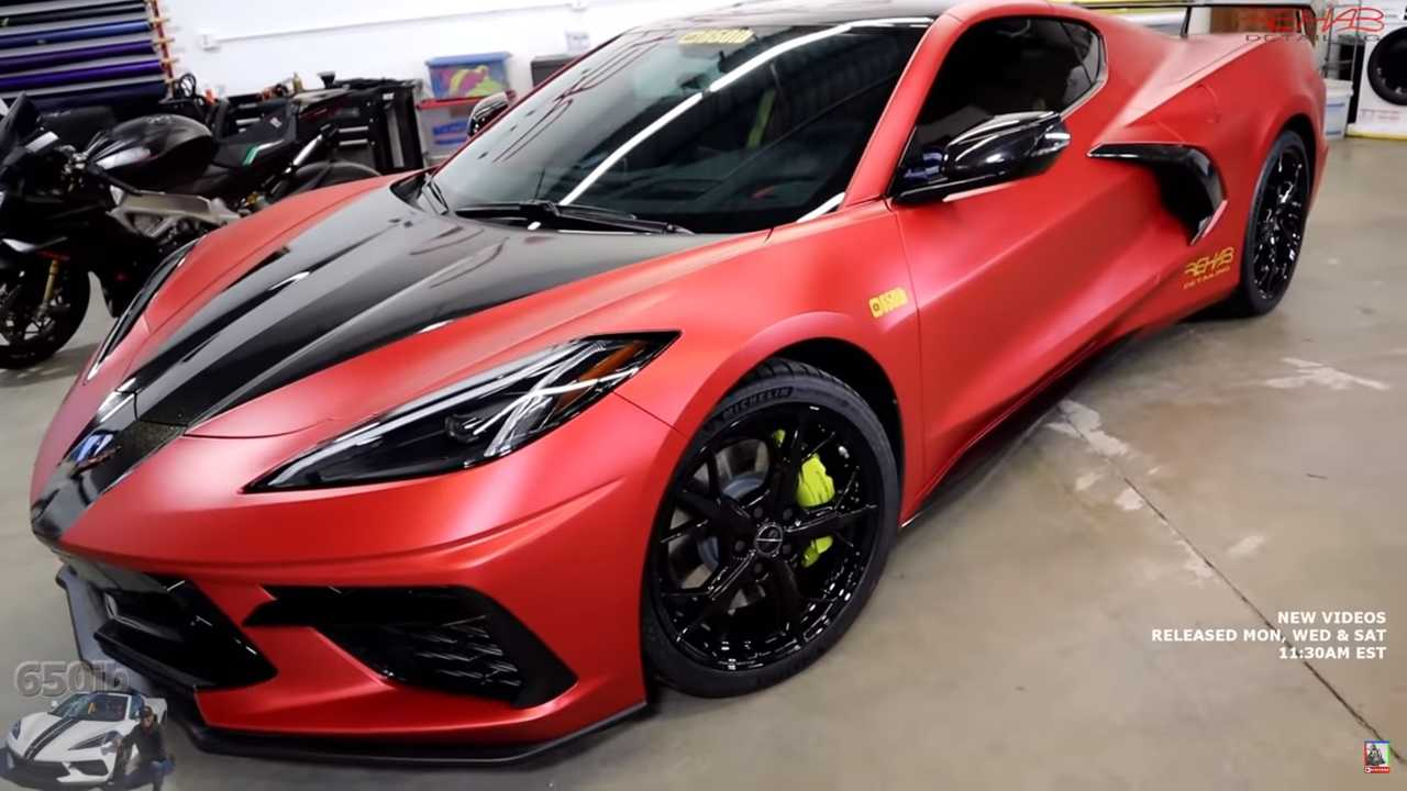 see the 2020 chevy corvette c8 get a body wrap in