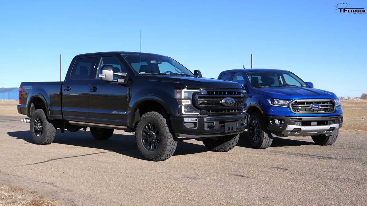 Ford Ranger Drag Races Super Duty Tremor Because Why Not? - Motor1