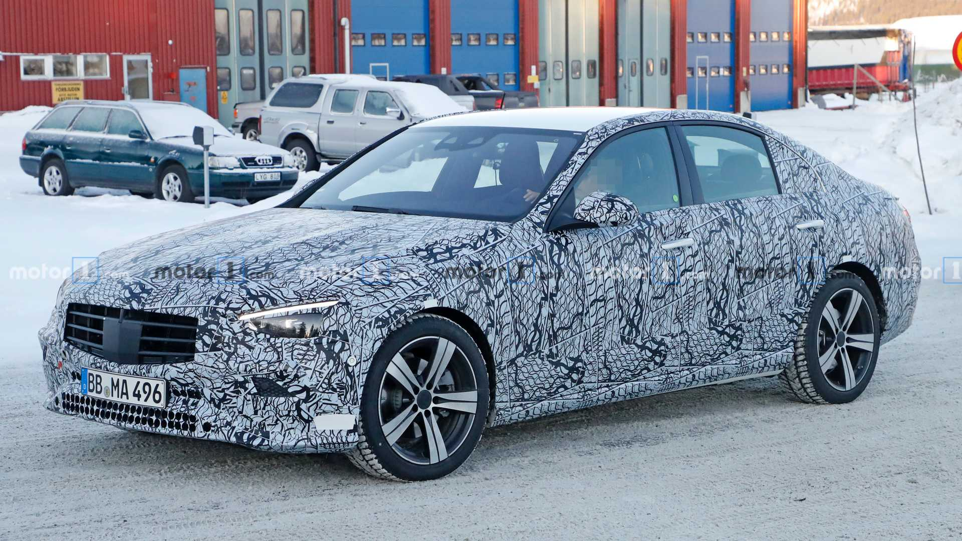 2021 Mercedes C-Class continues to shed camo in new spy photos