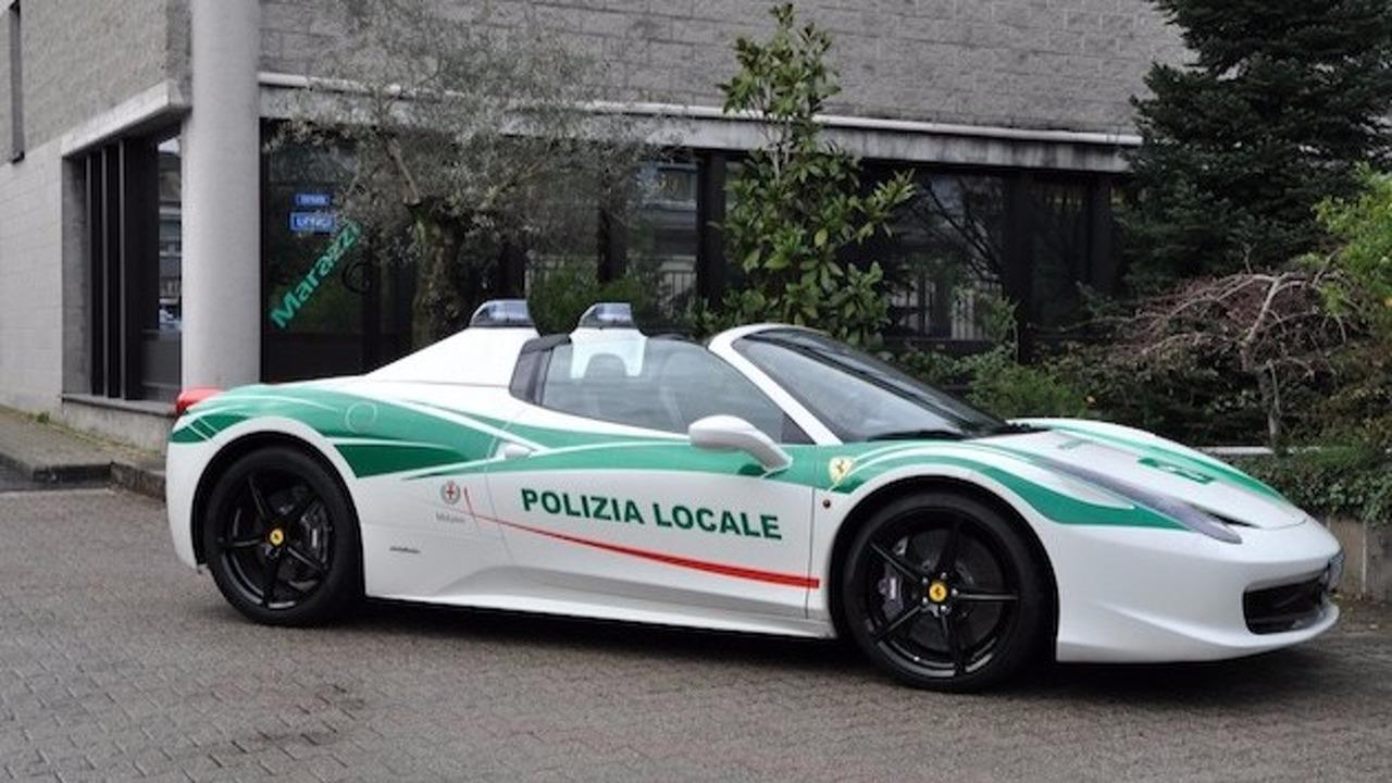 458 Spider police milanaise