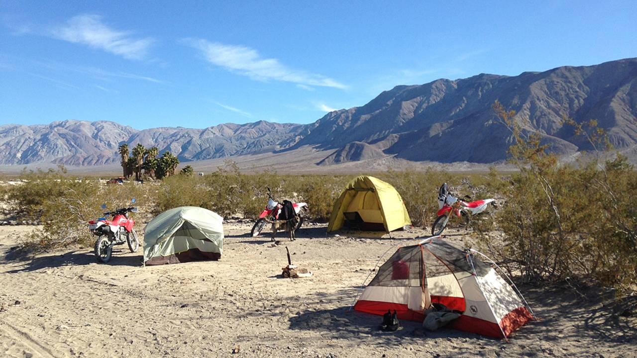 A campsite at the middle springs