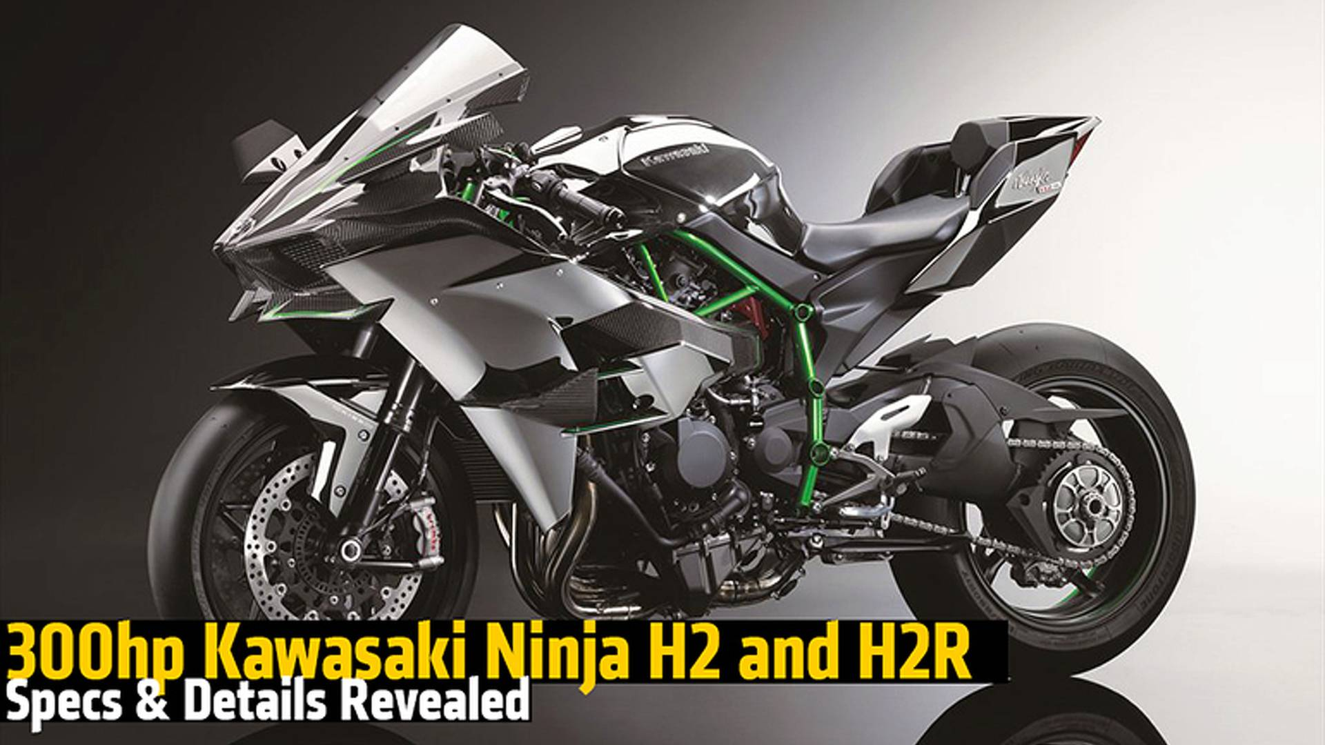 300hp Kawasaki Ninja H2 and H2R Specs & Details Revealed