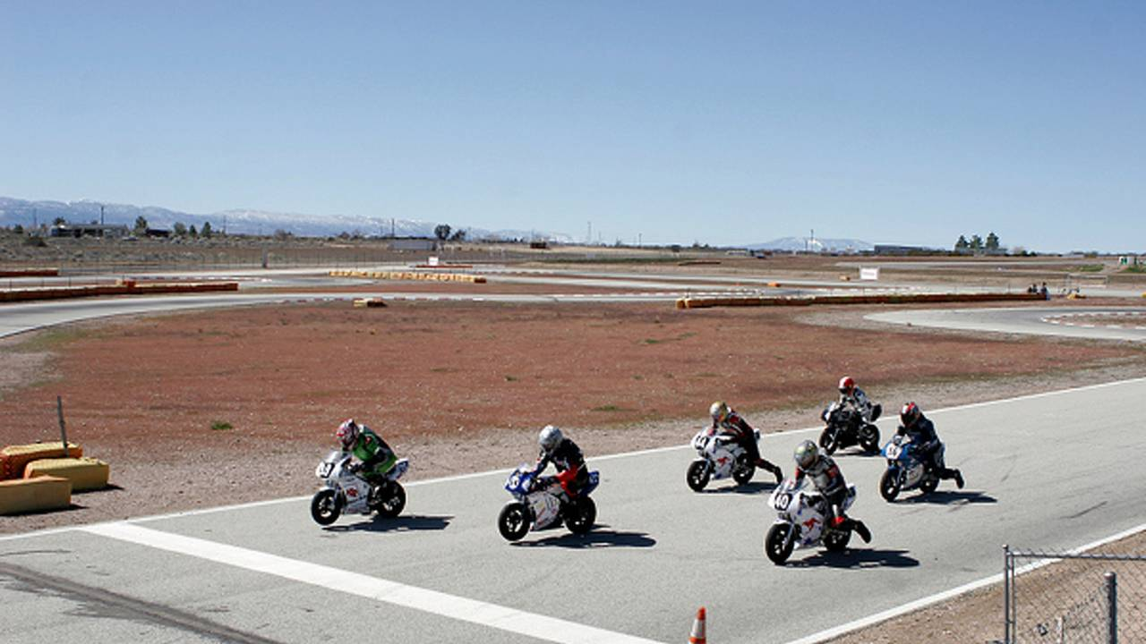 My first motorcycle race