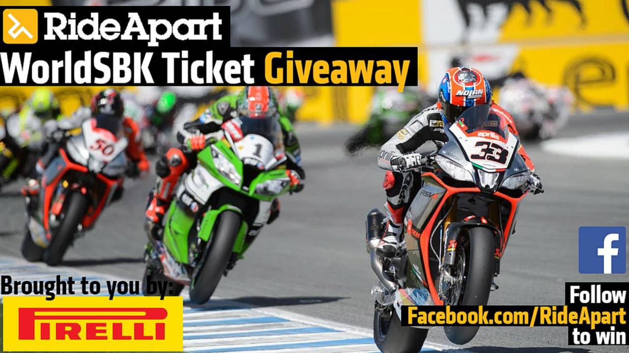 Win Tickets to WorldSBK Laguna Seca - Here's How