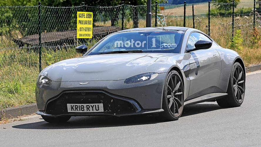 Aston Martin Vantage S Spied Trying To Hide Its Extra Power