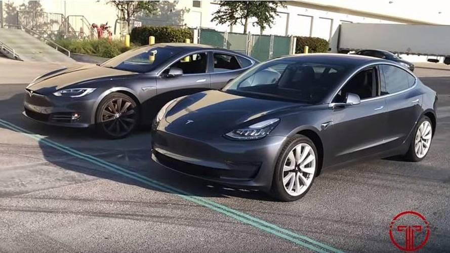 Watch Tesla Model 3 Vs Model S In Most Unique Race Yet