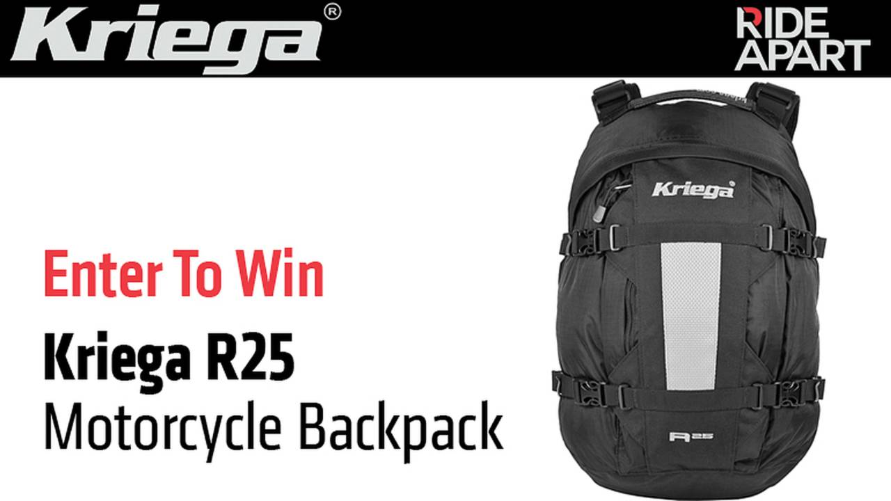 Enter To Win a Kriega R25 Motorcycle Backpack