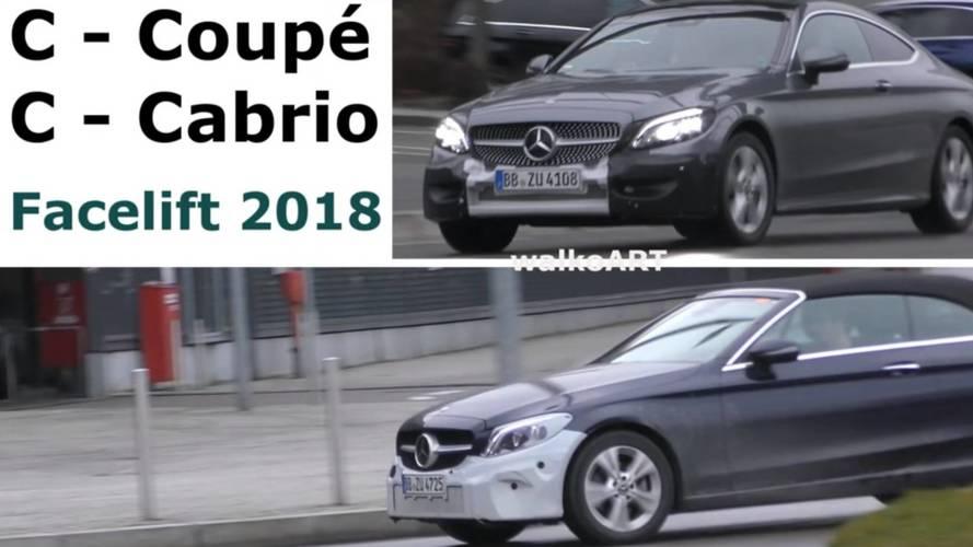 Makyajlı Mercedes C-Serisi Coupe ve Cabrio ikilisi görüntülendi