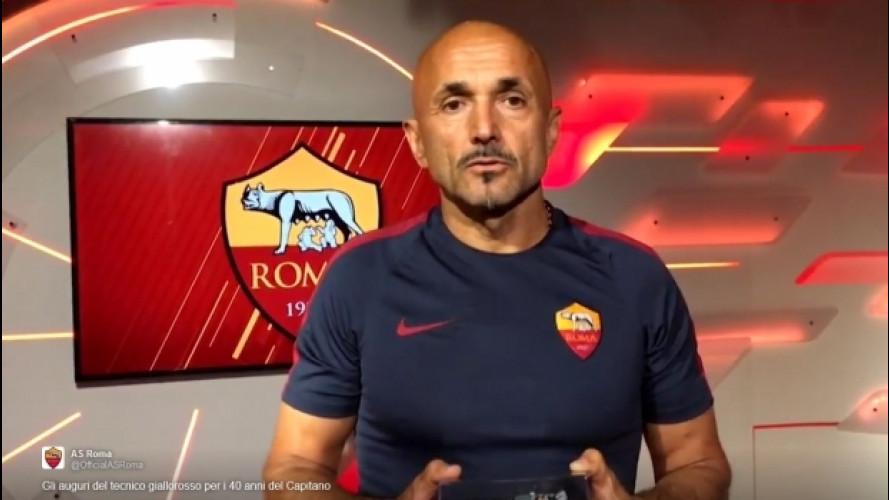 Spalletti, una DeLorean a Totti per i suoi 40 anni