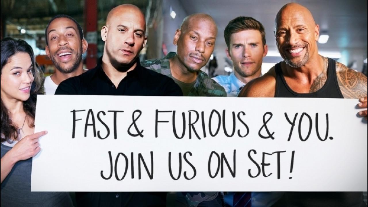 [Copertina] - Fast and Furious 8, così si vince un giorno con gli attori [VIDEO]