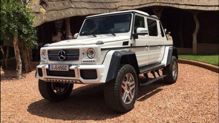 "Mercedes-Maybach G 65 4x4² Landaulet, le foto ""sfuggite"""