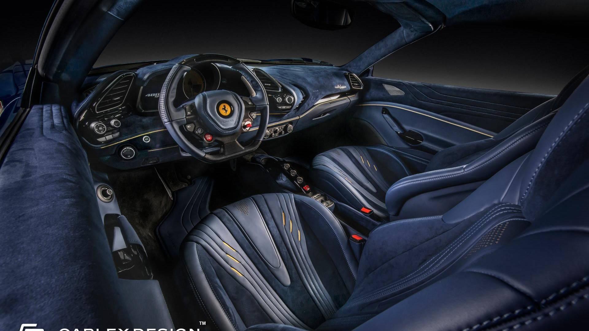 Ferrari 488 Spider Bathed In Leather Alcantara By Carlex Design