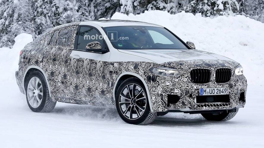 BMW X4 M Spied Up Close Heating Up Cold Test Day