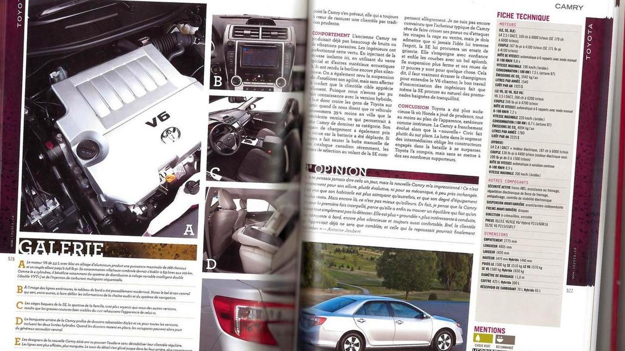 2012 Toyota Camry Magazine Scan   11.8.2011