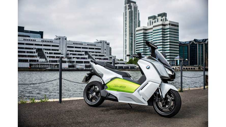 Details on BMW C Evolution Electric Maxi Scooter Slip Out in Frankfurt