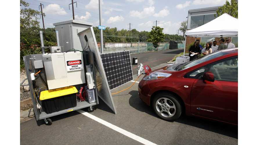 Solar Powered EV Charging Station 3-Months Out From New Jersey Company