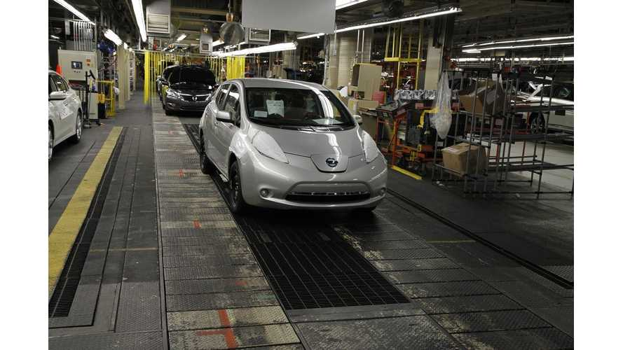 US Nissan LEAF Production Underway (Video)