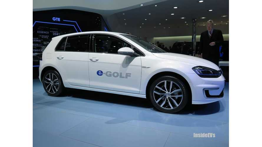 Volkswagen Group: Plug-In Electric Vehicles Sales To Be 2% to 3% of Our Total Annual Sales