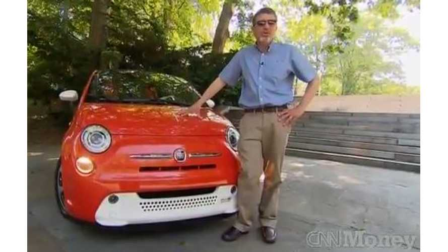 Video: CNN Money Says Fiat 500e Looks Like a Toy, But It's a Kick to Drive