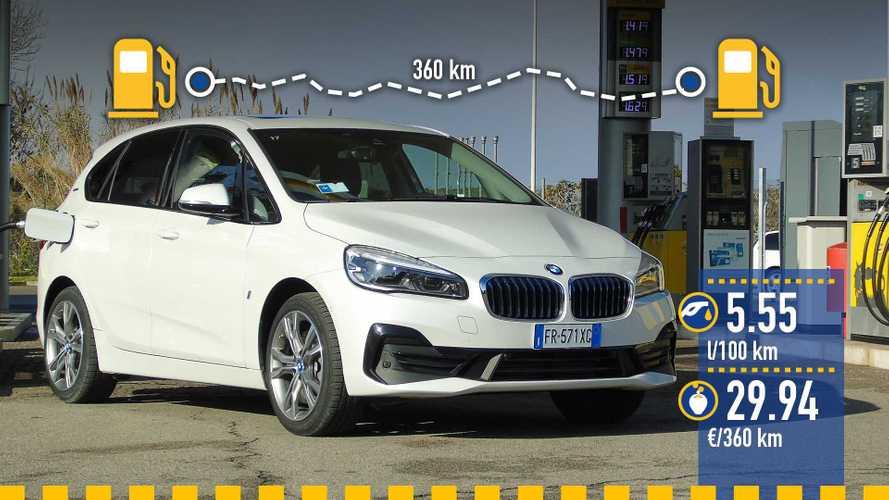 BMW 225xe Active Tourer, la prova consumi