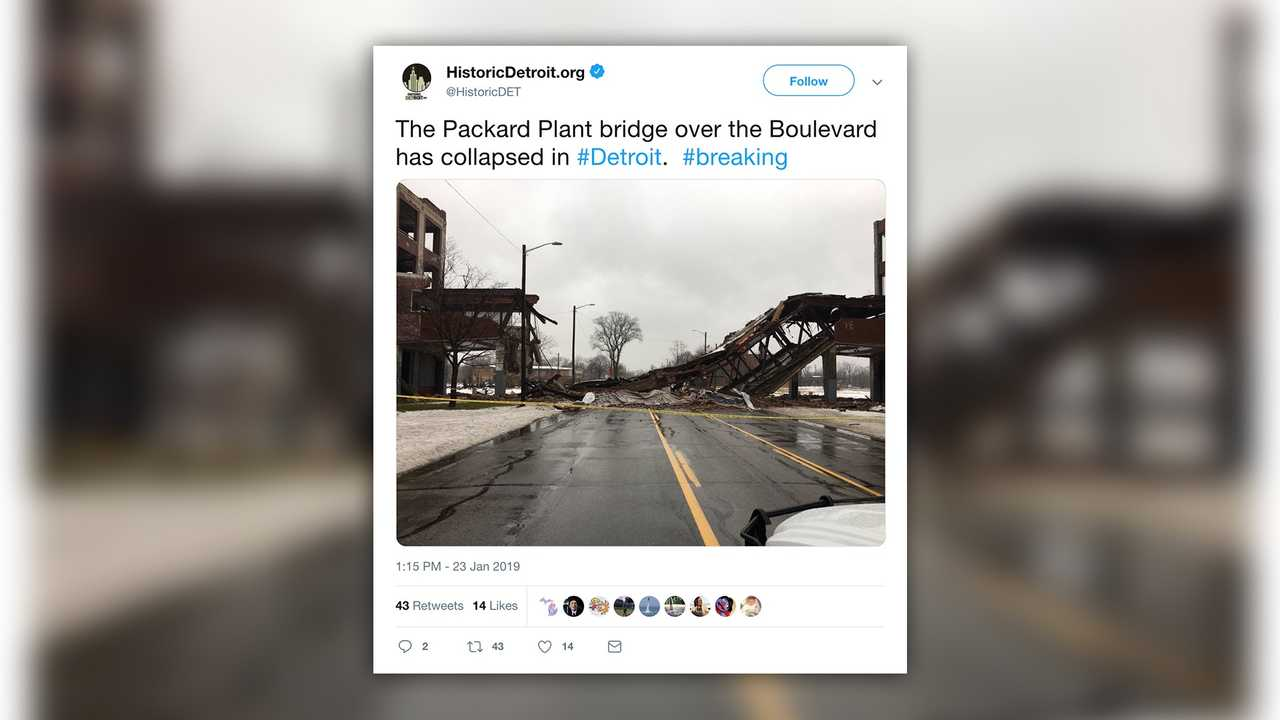 Packard Plant Bridge Collapse