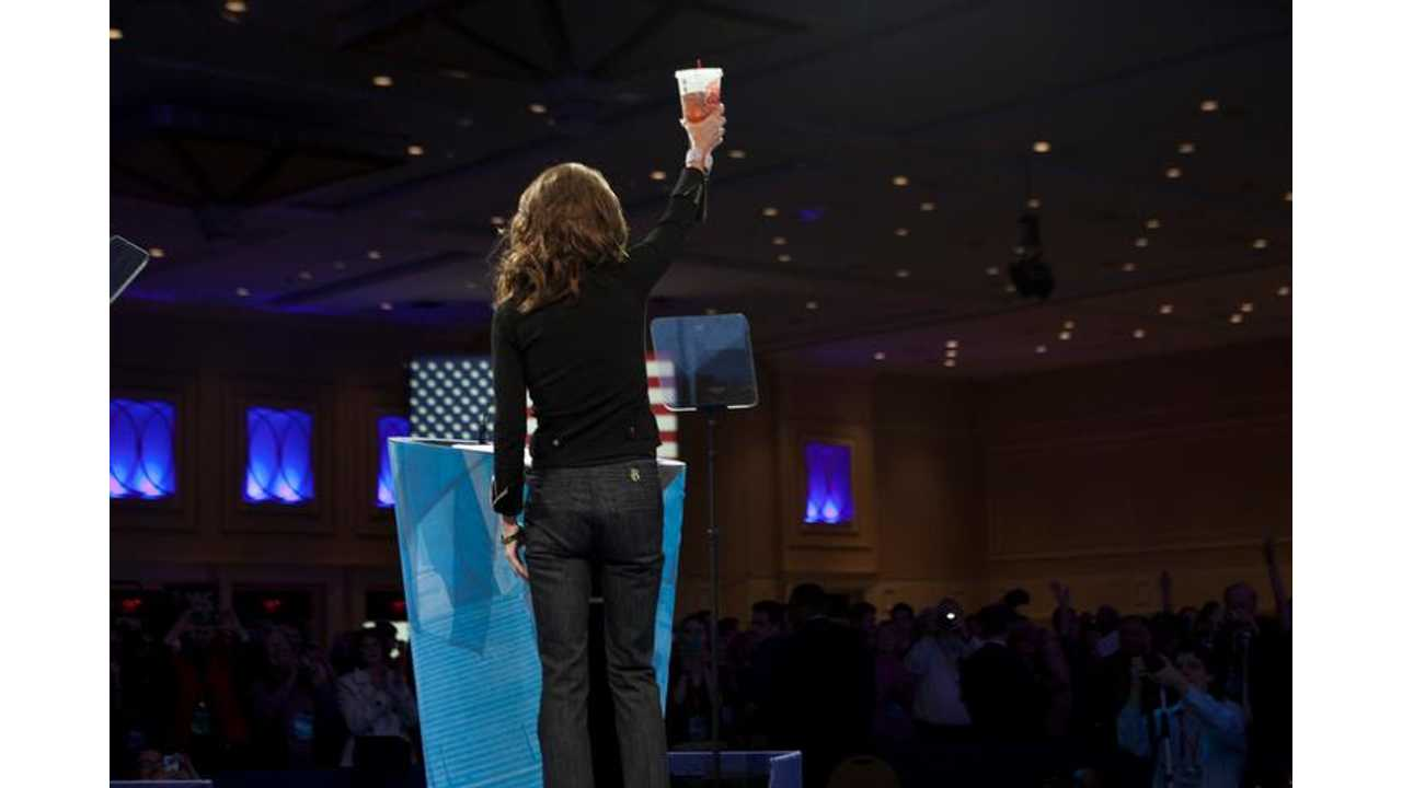 Sarah Palin Turns Her BackOn AllElectric Cars To Prove Some Kind Of Political Point