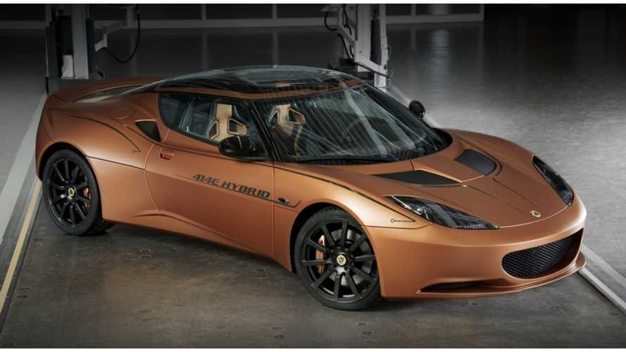 Lotus Evora 414E Extended Range Electric Concept Wins 2013 SAE World Congress Tech Award