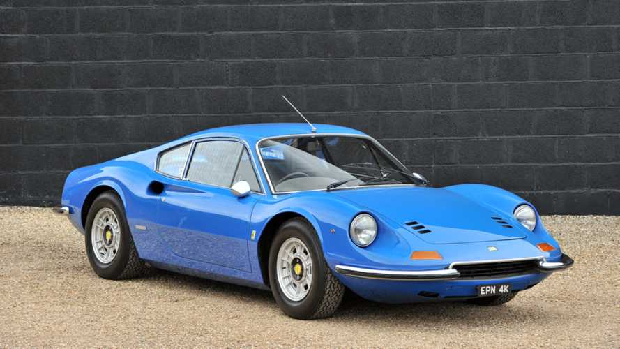 Rare Right-Hand Drive Ferrari Dino Is A Beauty In Blue
