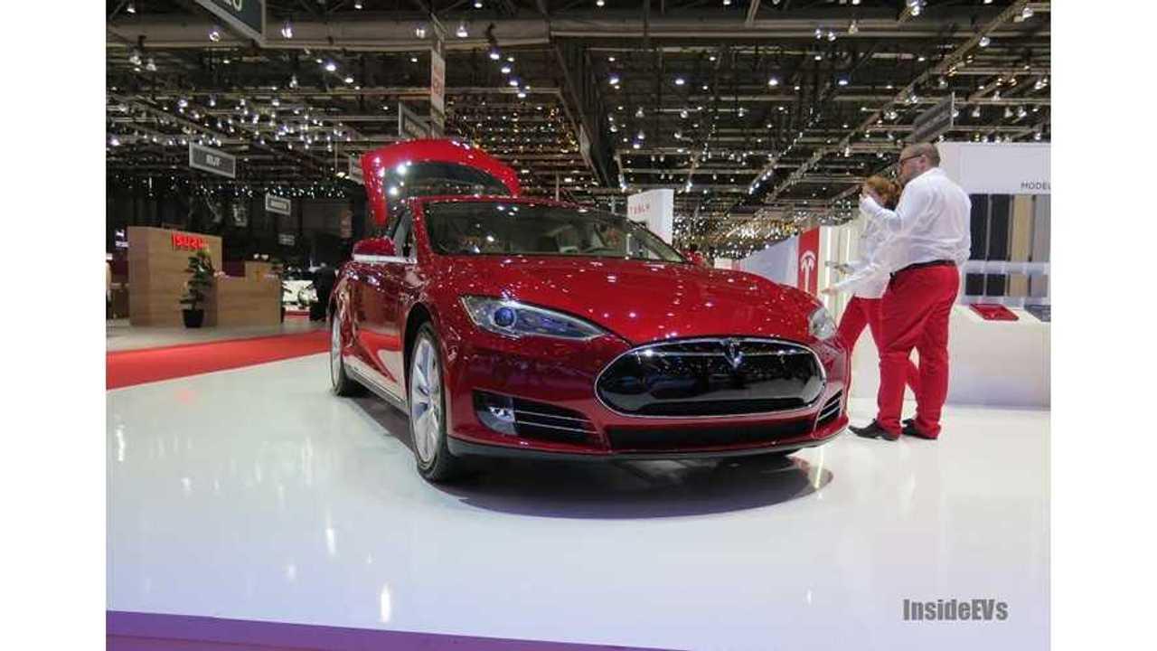 Tesla Model S Hits the Stage in Geneva