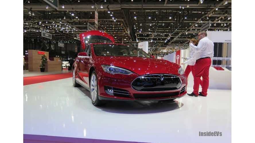 Tesla Model S Hits the Stage in Geneva