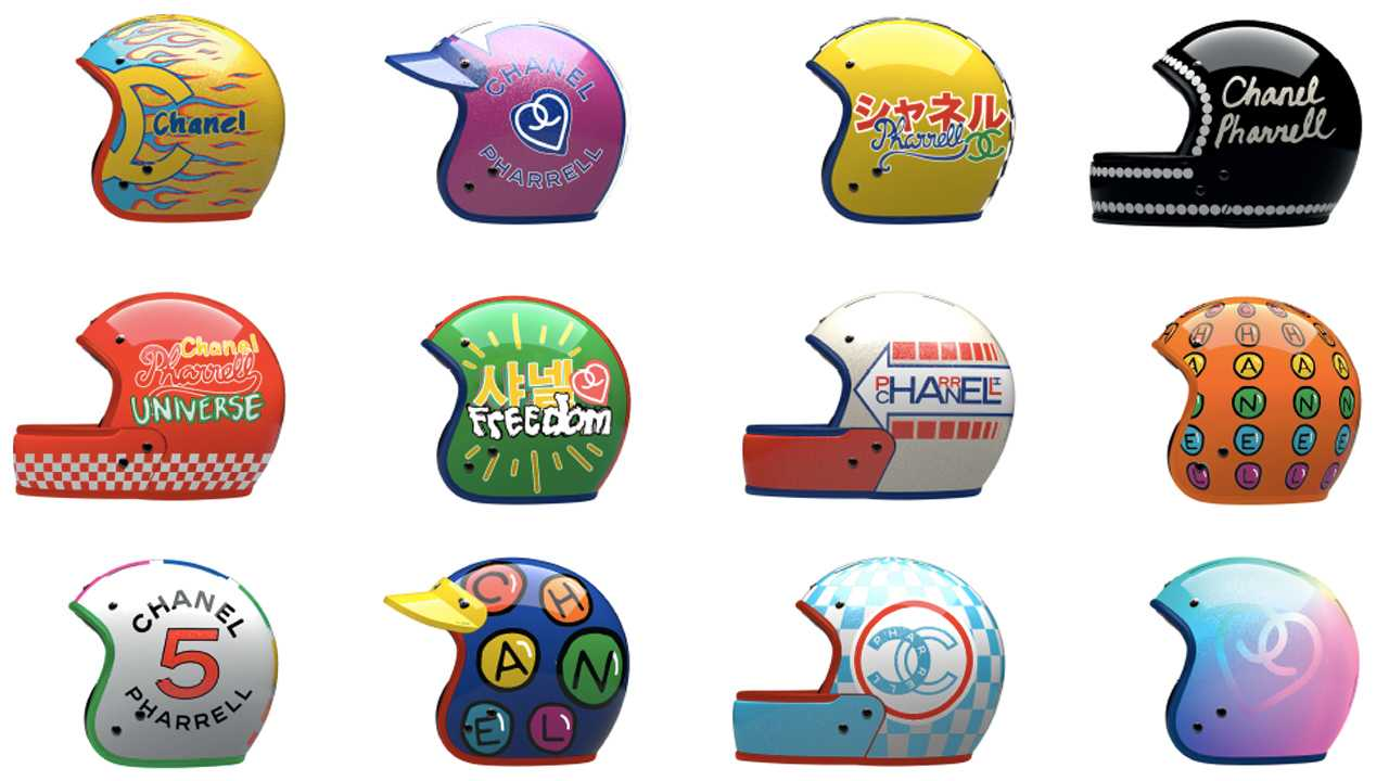 Chanel x Pharrell Helmet Collection