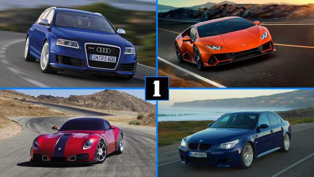 Dix voitures avec un moteur V10
