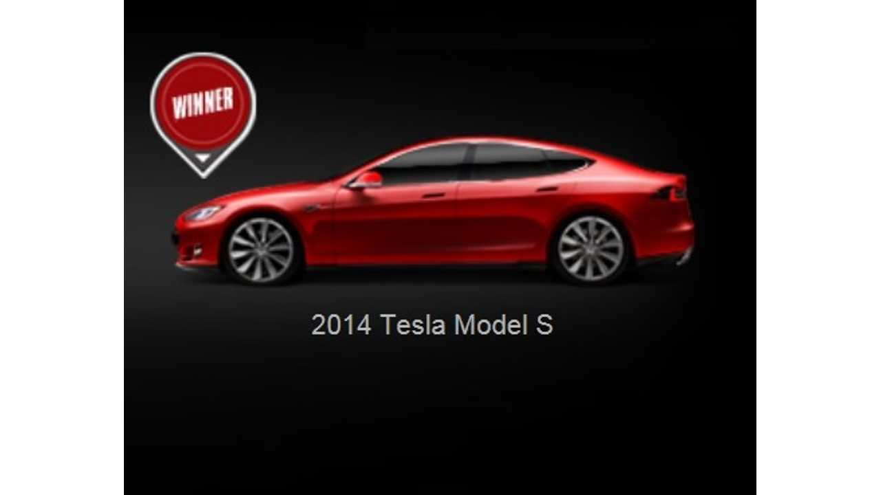 Flash News:  Tesla Model S Is Auto123's 2014 Luxury