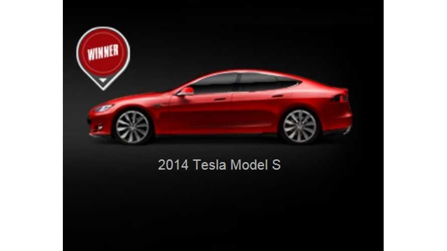 Flash News:  Tesla Model S Is Auto123's 2014 Luxury