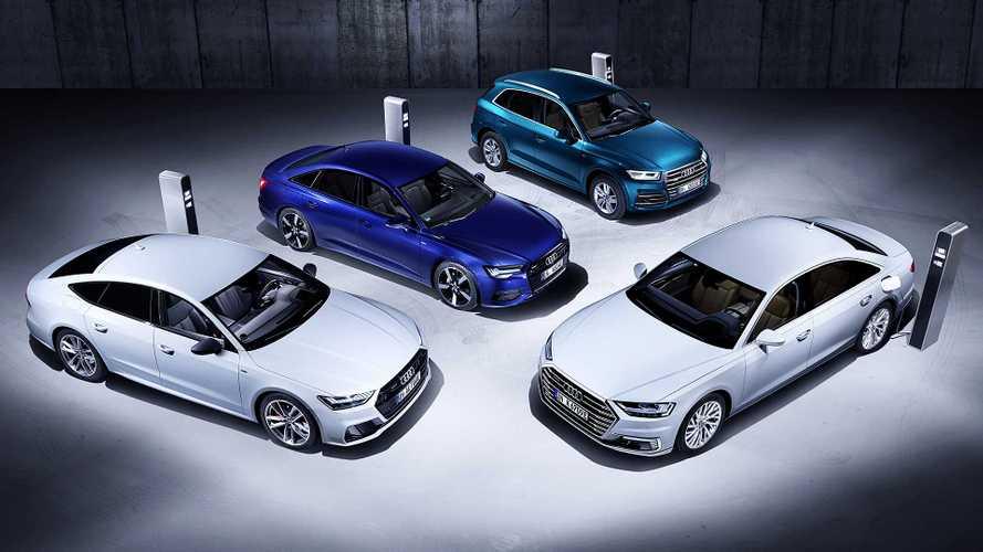 Les Audi Q5, A6, A7 et A8 passent à l'hybride rechargeable