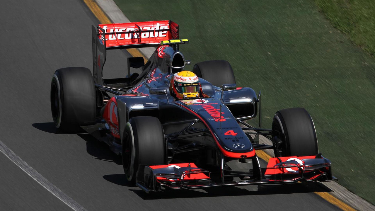 McLaren's Lewis Hamilton qualifies in pole position for Australian Grand Prix