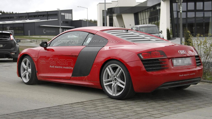 Audi R8 e-tron spied in the wild [video]
