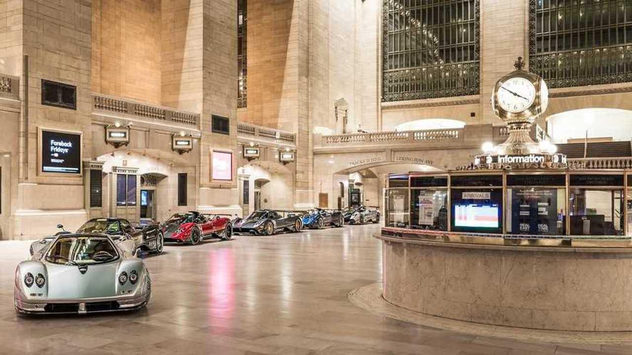Pagani Zonda alla Grand Central Terminal