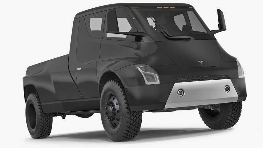 Tesla Truck 3D Renders