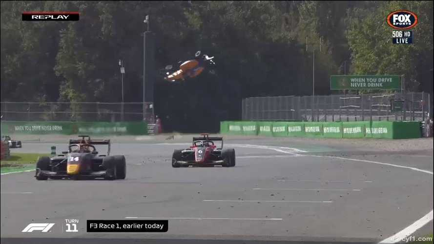 F3 Driver Gets Massive Air In Crazy Monza Crash