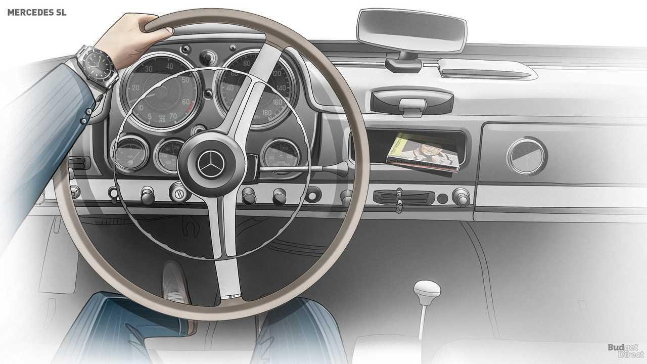 W121 SL interior 1955-1963