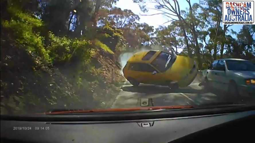 Videó: Óvatlanul előző Audi okozott filmekbe illő balesetet