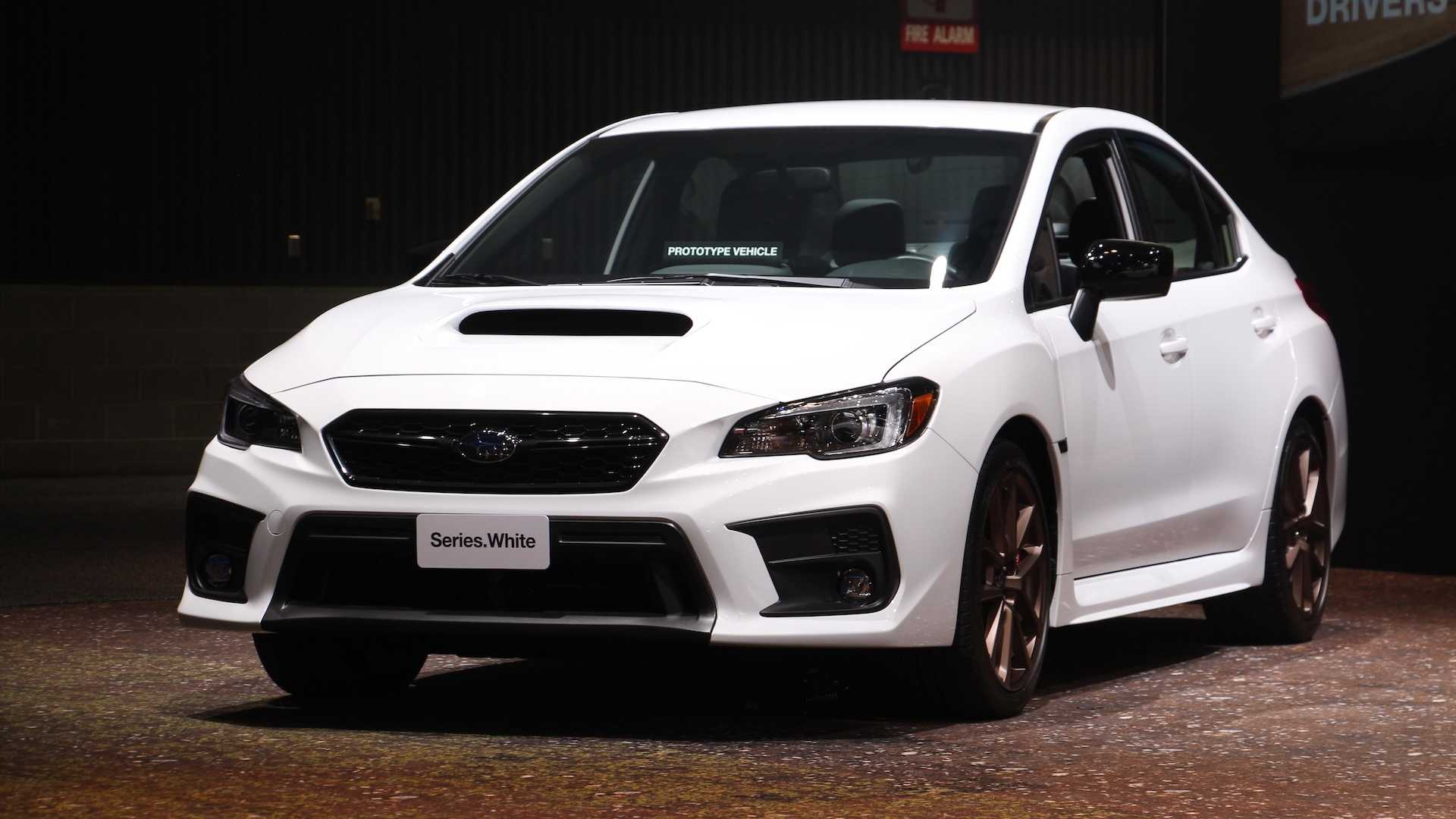 2020 Subaru Wrx Sti Series White Debut In Cool Color