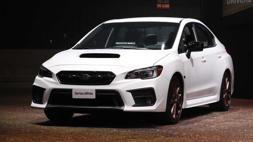 2020 Subaru WRX, STI Series.White Debut In Cool Color, Bronze Wheels