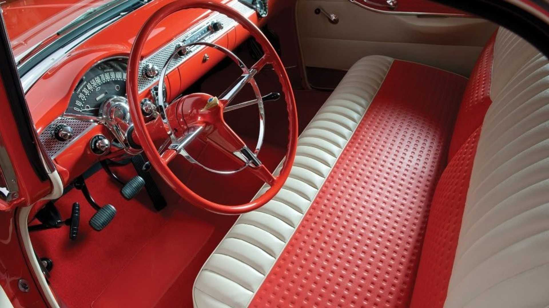 """[""""Place Your Bid On This Gorgeous 1955 Chevy Bel Air Nomad""""]"""