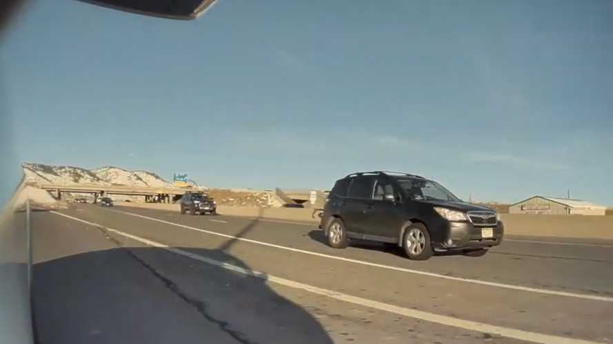 See A Subaru Forester Try To Hit A Tesla Model X With TeslaCam On